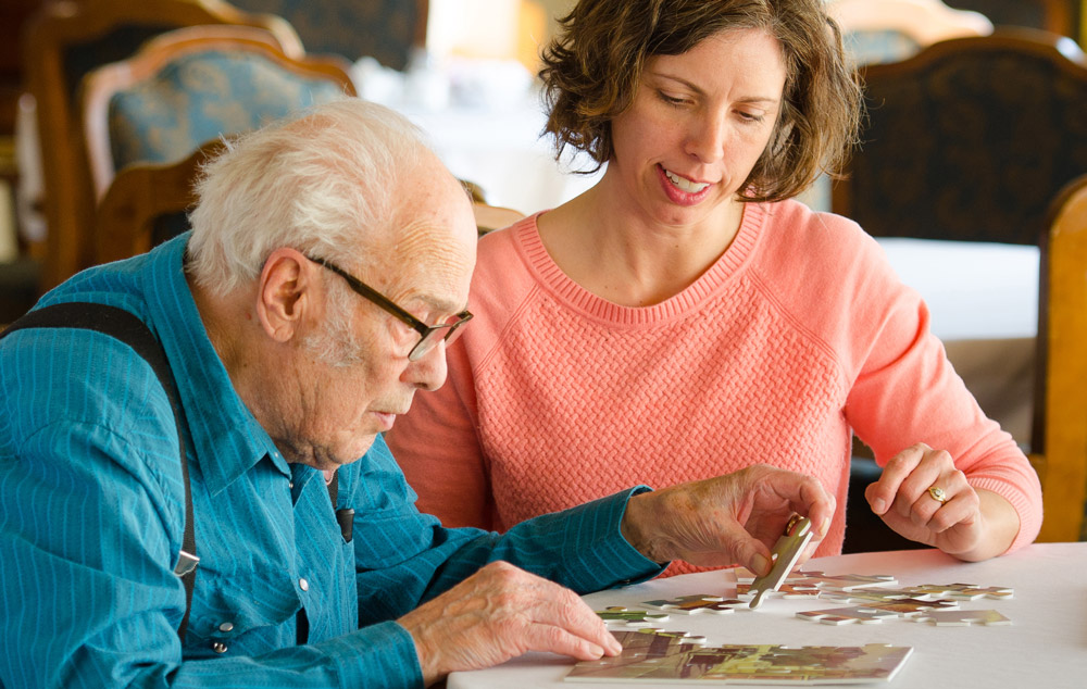 One on one memory care activities